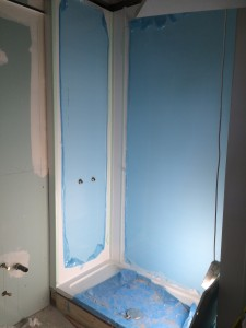 New PVC Walls - ready for new shower & toilet